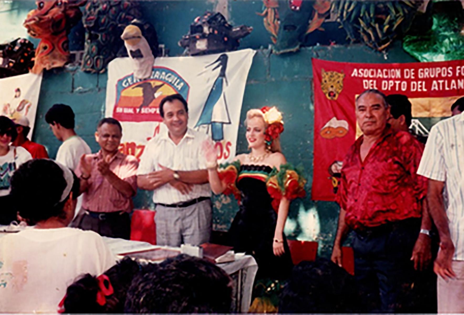 Visita Reina Flavia Santoro 1984